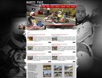 Internetseite des Rennfahrers Marco Paul - www.marcopaul.de (Betreuung seit 2011)